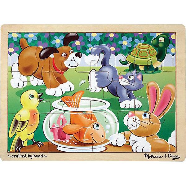 Купить Пазл Melissa & Doug Шаловливые животные 12 деталей, США, Унисекс
