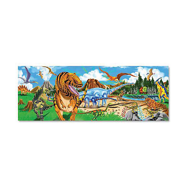 Напольный пазл Melissa &amp; Doug Динозавры 48 деталейКоврики-пазлы<br>Характеристики товара:<br><br>• возраст: от 3 лет;<br>• материал: картон;<br>• в комплекте: 48 элементов;<br>• размер упаковки: 30х8х24 см;<br>• вес упаковки: 1,3 кг.;<br>• страна производитель: Китай.<br><br>Напольный пазл Melissa &amp; Doug (Мелисса и Даг) Динозавры - это увлекательный и познавательный пазл для самых маленьких. Он поможет развить мелкую моторику, усидчивость и логическое мышление. <br><br>Пазл состоит из 48 красочных деталей с изображением неизведанных величественных динозавров. Все элементы легко соединяются и прочно прилегают друг к другу, что не позволяет ему рассыпаться. Широкие элементы пазла на 20% толще обычных, что позволяет долго сохранить хороший внешний вид.<br><br>Melissa &amp; Doug является одним из ведущих брендов игрушек, для производства которых используется высококачественный картон и нетоксичные красители.<br><br>Напольный пазл Melissa &amp; Doug (Мелисса и Даг) Динозавры можно купить в нашем интернет-магазине.<br>Ширина мм: 300; Глубина мм: 80; Высота мм: 240; Вес г: 1270; Возраст от месяцев: 36; Возраст до месяцев: 2147483647; Пол: Унисекс; Возраст: Детский; SKU: 7416025;