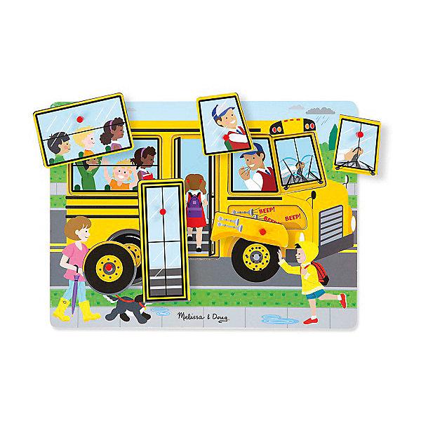 Рамка-вкладыш Melissa &amp; Doug Автобус со звукомРамки-вкладыши<br>Характеристики товара:<br><br>• возраст: от 3 лет;<br>• материал: дерево;<br>• батарейки: 2 тип ААА (в набор не входят)<br>• в комплекте: 6 элементов;<br>• размер упаковки: 30х2х22 см;<br>• вес упаковки: 544 грг.;<br>• страна производитель: Китай.<br><br>Рамка-вкладыш Melissa &amp; Doug (Мелисса и Даг) Автобус - это познавательный пазл для самых маленьких. Он поможет развить зрительную память, мелкую моторику и логическое мышление. Ребенок сможет отправиться в увлекательное путешествие на веселом автобусе с помощью звуковых эффектов.<br><br>Рамка включает в себя 6 красочных вкладышей, каждая их которых изображает части автобуса. Все вкладыши имеют деревянную ручку, чтобы малыш с легкостью смог перемещать и вставлять в необходимое место.<br><br>Melissa &amp; Doug является одним из ведущих брендов деревянных игрушек, для производства которых используется высококачественная обработанная древесина и нетоксичные красители.<br><br>Рамка-вкладыш Melissa &amp; Doug (Мелисса и Даг) Автобус можно купить в нашем интернет-магазине.<br><br>Ширина мм: 300<br>Глубина мм: 30<br>Высота мм: 220<br>Вес г: 1170<br>Возраст от месяцев: 24<br>Возраст до месяцев: 2147483647<br>Пол: Унисекс<br>Возраст: Детский<br>SKU: 7416028