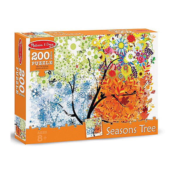 Пазл Melissa &amp; Doug Времена года 200 деталейПазлы классические<br>Характеристики товара:<br><br>• возраст: от 5 лет;<br>• материал: картон;<br>• в комплекте: 200 элементов;<br>• размер упаковки: 23х5х33см;<br>• вес упаковки: 408 гр.;<br>• страна производитель: Китай.<br><br>Пазл Melissa &amp; Doug (Мелисса и Даг) Времена года - это увлекательный и познавательный пазл для самых маленьких. Он поможет развить мелкую моторику, усидчивость и логическое мышление. <br><br>Пазл состоит из 200 красочных деталей, на которых соедененны вместе все 4 времяни года. Все элементы легко соединяются и прочно прилегают друг к другу, что не позволяет ему рассыпаться.<br><br>Melissa &amp; Doug является одним из ведущих брендов игрушек, для производства которых используется высококачественный картон и нетоксичные красители.<br><br>Пазл Melissa &amp; Doug (Мелисса и Даг) Времена года можно купить в нашем интернет-магазине.<br>Ширина мм: 230; Глубина мм: 50; Высота мм: 330; Вес г: 408; Возраст от месяцев: 96; Возраст до месяцев: 2147483647; Пол: Унисекс; Возраст: Детский; SKU: 7416038;
