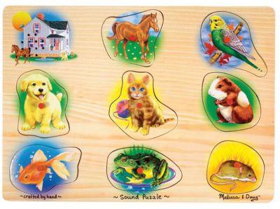 Рамка-вкладыш Melissa & Doug Домашние животные со звуком