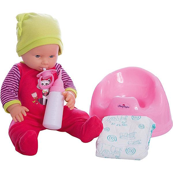 Кукла Эмили Позаботься обо мне Mary Poppins, коллекция Apple forest.Куклы<br>Характеристики:<br><br>• возраст: от 3 лет<br>• в комплекте: кукла, бутылочка, соска-пустышка, горшок, подгузник<br>• высота куклы: 38 см.<br>• материал: пластик, текстиль<br>• упаковка: картонная коробка блистерного типа<br><br>Кукла Эмили из коллекции «Apple forest» торговой марки Mary Poppins отлично подойдет для сюжетно-ролевых игр в «дочки-матери». Кукла детально проработана и очень похожа на настоящего малыша. Эмили одета красный комбинезон и забавную зеленую шапочку с ушками.<br><br>Кукла умеет пить и писать. В комплекте с куклой поставляется горшок, бутылочка, соска-пустышка и настоящий подгузник. Можно напоить куколку из бутылочки водой и посадить на горшок или надеть ей подгузник.<br><br>Кукла изготовлена из качественного пластика. Ручки и ножки подвижны.<br><br>Куклу Эмили Позаботься обо мне Mary Poppins, коллекция Apple forest можно купить в нашем интернет-магазине.<br>Ширина мм: 215; Глубина мм: 210; Высота мм: 340; Вес г: 960; Возраст от месяцев: 36; Возраст до месяцев: 2147483647; Пол: Женский; Возраст: Детский; SKU: 7417195;