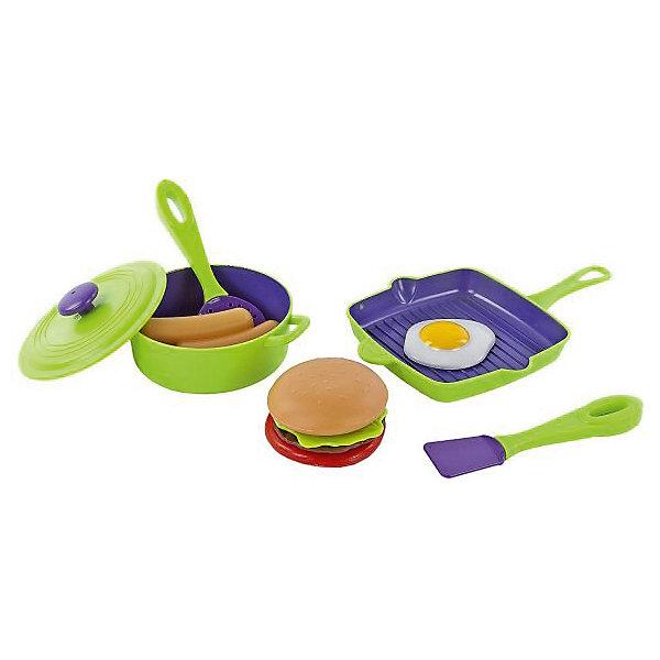 Набор посуды для готовки Mary Poppins, зел. сумка.Детские кухни<br>Характеристики:<br><br>• возраст: от 3 лет<br>• в комплекте: сковорода, кастрюля с крышкой, лопаточка, шумовка, 2 сосиски, яичница, разборный гамбургер (2 кусочка хлеба, мясо, зелень, помидор)<br>• материал: пластмасса<br>• упаковка: сумка<br><br>Набор посуды для готовки от бренда Mary Poppins, состоящий из игрушечной посуды и игрушечных продуктов, подарит юной хозяйке много часов увлекательной игры.<br><br>Девочка с удовольствием будет хлопотать на игрушечной кухне, поджаривая яичницу на завтрак, делая гамбургер на обед или отваривая сосиски на ужин.<br><br>Все детали набора изготовлены из высококачественной пластмассы и имеют реалистичный внешний вид.<br><br>Набор посуды для готовки Mary Poppins, зел. сумка. можно купить в нашем интернет-магазине.<br>Ширина мм: 200; Глубина мм: 40; Высота мм: 240; Вес г: 230; Возраст от месяцев: 36; Возраст до месяцев: 2147483647; Пол: Женский; Возраст: Детский; SKU: 7417197;