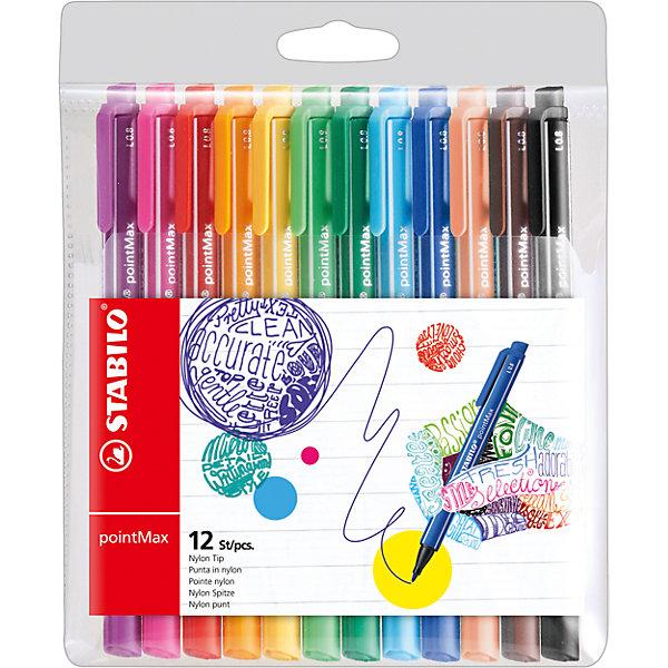Набор капилярных ручек STABILO, pointMax, 12цв, в пластике, блистерПисьменные принадлежности<br>Характеристики:<br><br>• возраст: от 3 лет<br>• в наборе: 12 ручек ярких цветов с клипом<br>• количество цветов: 12<br>• толщина линии: 0,8 мм.<br>• материал корпуса: пластик<br>• чернила на водной основе, без запаха<br>• не высыхают без колпачка до 24 часов<br>• упаковка: блистер<br>• размер упаковки: 14x17x1,5 см.<br>• вес: 110 гр.<br><br>Инновационные капиллярные ручки интенсивных цветов предназначены для творчества и письма в больших объемах.<br><br>Уникальность: специально разработанный, надежный и очень прочный наконечник. Высокий комфорт и удовольствие от письма - даже при многочасовом ежедневном использовании. Чернила на водной основе, без запаха не высыхают, без колпачка до 24 часов.<br><br>Набор капилярных ручек STABILO, pointMax, 12цв, в пластике, блистер можно купить в нашем интернет-магазине.<br><br>Ширина мм: 140<br>Глубина мм: 170<br>Высота мм: 15<br>Вес г: 110<br>Возраст от месяцев: 36<br>Возраст до месяцев: 2147483647<br>Пол: Унисекс<br>Возраст: Детский<br>SKU: 7417231