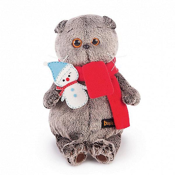 Басик в шарфике со снеговичкомМягкие игрушки животные<br>Характеристики товара:<br><br>• возраст: от 3 лет;<br>• материал: текстиль, искусственный мех;<br>• высота игрушки: 22 см;<br>• размер упаковки: 25х15х12 см;<br>• вес упаковки: 335 гр.;<br>• страна производитель: Россия.<br><br>Мягкая игрушка «Басик в шарфике со снеговичком» Budi Basa - очаровательный пушистый котенок с добрыми глазками. На Басике повязан красный шарфик, в лапках он держит игрушку снеговичка. Игрушка выполнена из качественного безопасного материала, настолько приятного и мягкого, что ребенок будет брать с собой котенка в кроватку и спать в обнимку.<br><br>Мягкую игрушку «Басик в шарфике со снеговичком» Budi Basa можно приобрести в нашем интернет-магазине.<br>Ширина мм: 250; Глубина мм: 150; Высота мм: 120; Вес г: 335; Возраст от месяцев: 36; Возраст до месяцев: 2147483647; Пол: Унисекс; Возраст: Детский; SKU: 7417240;