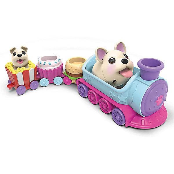 Игровой набор Chubby Puppie, паровозикИгровые наборы с фигурками<br>Характеристики:<br><br>• возраст: от 4 лет;<br>• игровые наборы с собачками;<br>• наличие аксессуаров и питомцев;<br>• взрослая собачка ходит вперевалочку и подпрыгивает;<br>• маленький щенок замер в фиксированной позе;<br>• фигурки коллекционные;<br>• серия наборов, совместимых друг с другом;<br>• тип батареек: 1 шт. типа ААА;<br>• батарейки включены в комплект;<br>• материал: пластик;<br>• размер упаковки: 10х19х30 см;<br>• вес: 685 г.<br><br>Игровой набор с героями Chubby Puppie «Паровозик» включает в себя 4 вагончика, собачки сами управляют составом. Фигурка взрослой собачки подвижна. Сюжетно-ролевая игра с собачками развивает фантазию, образное мышление, воображение. <br><br>Игровой набор Chubby Puppie, паровозик можно купить в нашем интернет-магазине.<br><br>Ширина мм: 101<br>Глубина мм: 304<br>Высота мм: 190<br>Вес г: 685<br>Возраст от месяцев: 48<br>Возраст до месяцев: 2147483647<br>Пол: Унисекс<br>Возраст: Детский<br>SKU: 7418219