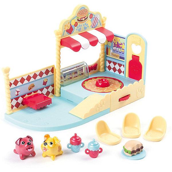 Игровой набор Chubby Puppie, кафеИгровые наборы с фигурками<br>Характеристики:<br><br>• возраст: от 4 лет;<br>• игровой набор с собачками;<br>• уютное кафе и угощения для питомцев;<br>• платформа поворачивается на 90 градусов;<br>• возможность собрать коллекцию питомцев;<br>• в комплекте: кафе с подвижной платформой, фигурка персонажа;<br>• тип батареек: 1 шт. типа ААА;<br>• батарейки в комплекте;<br>• материал: пластик;<br>• размер упаковки: 23х17,5х12,5 см;<br>• вес: 1588 г.<br><br>Игровой набор «Кафе» предлагает коллекционерам серии «Упитанные собачки» открыть уютное кафе для питомцев. Кафе оснащено полочками, прилавками, поворотной платформой. Столик у окна, удобные креслица для посетителей. Девочка обыгрывает различные сюжеты, наделяет собачек человеческими качествами. В процессе игры развивается фантазия, образное мышление, пополняется словарный запас.<br><br>Игровой набор Chubby Puppie, кафе можно купить в нашем интернет-магазине.<br><br>Ширина мм: 127<br>Глубина мм: 235<br>Высота мм: 178<br>Вес г: 1588<br>Возраст от месяцев: 48<br>Возраст до месяцев: 2147483647<br>Пол: Унисекс<br>Возраст: Детский<br>SKU: 7418226