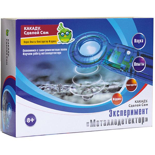 Kakadu Сделай Сам Набор Эксперимент «Металлодетектор»Робототехника и электроника<br>Характеристики товара:<br><br>• возраст: от 8 лет;<br>• материал:  пластик, металл;<br>• комплект:   детали металлоискателя.;<br>• наличие батареек: не входят в комплект;<br>• тип батареек: 2 x AA / LR6 1.5V (пальчиковые);<br>• размер упаковки: 22,5х6х16,5 см.;<br>• упаковка: картонная коробка;<br>• вес в упаковке: 189 гр.;<br>• бренд, страна бренда: Kakadu, Россия;<br>• страна-изготовитель: Китай.<br><br>Набор для экспериментов «Металлодетектор» из серии «Сделай Сам» торговой марки Kakadu обязательно понравится любознательным детям. Это уникальная возможность самостоятельно собрать интересный прибор из элементов, которые ребенок раньше не видел. <br><br>Данный набор познакомит малыша с базовыми принципами работы металлодетектора, его применение. Ребенок узнает много нового, поработает с платами и весело проведет время.<br><br>Научные опыты и эксперименты из подручных предметов отлично поспособствуют развитию воображения, логического мышления, усидчивости и подарят массу положительных эмоций.<br><br>Рекомендуемый возраст: от 8 лет, под наблюдением взрослых.<br><br>Набор для экспериментов «Металлодетектор», Kakadu  можно купить в нашем интернет-магазине.<br>Ширина мм: 225; Глубина мм: 60; Высота мм: 165; Вес г: 189; Возраст от месяцев: 96; Возраст до месяцев: 2147483647; Пол: Унисекс; Возраст: Детский; SKU: 7419279;