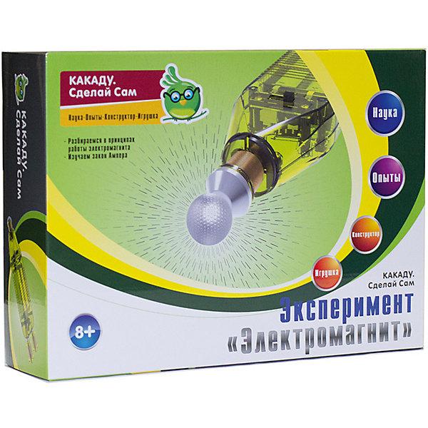 Kakadu Сделай Сам Набор Эксперимент «Электромагнит»Робототехника и электроника<br>Характеристики товара:<br><br>• возраст: от 8 лет;<br>• материал:  пластик, металл;<br>• комплект: детали электромагнита;<br>• размер упаковки: 22,5х6х16,5 см.;<br>• упаковка: картонная коробка;<br>• вес в упаковке: 200 гр.;<br>• бренд, страна бренда: Kakadu, Россия;<br>• страна-изготовитель: Китай.<br><br>Набор для экспериментов «Электромагнит» из серии «Сделай Сам» торговой марки Kakadu обязательно понравится любознательным детям. Это уникальная возможность самостоятельно собрать интересный прибор из элементов, которые ребенок раньше не видел. <br><br>Благодаря набору ребёнок изучит базовые принципы электромагнетизма и соберет свой собственный электромагнит. Ребенок узнает много нового, поработает с платами и весело проведет время.<br><br>Научные опыты и эксперименты из подручных предметов отлично поспособствуют развитию воображения, логического мышления, усидчивости и подарят массу положительных эмоций.<br><br>Рекомендуемый возраст: от 8 лет, под наблюдением взрослых.<br><br>Набор для экспериментов «Электромагнит», Kakadu  можно купить в нашем интернет-магазине.<br><br>Ширина мм: 225<br>Глубина мм: 60<br>Высота мм: 165<br>Вес г: 201<br>Возраст от месяцев: 96<br>Возраст до месяцев: 2147483647<br>Пол: Унисекс<br>Возраст: Детский<br>SKU: 7419280