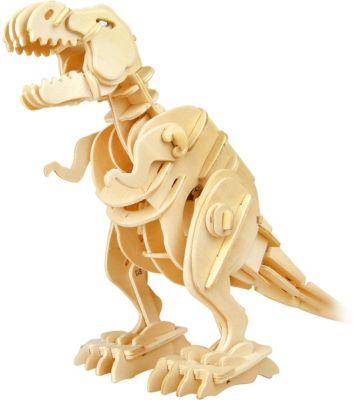 D-Lex Деревянный конструктор Тираннозавр, звуковой контроль для движения