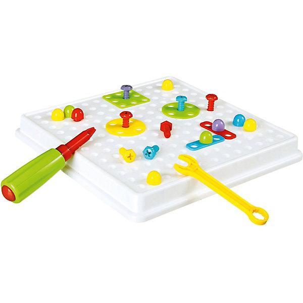 Конструктор-мозаика Животные ВоndibonМозаика детская<br>Характеристики:<br><br>• возраст: от 3 лет;<br>• материал: пластик;<br>• в наборе: чемоданчик, инструкция с образцами собираемых конструкций, планочки, винтики и отвёртка;<br>• количество деталей: 96;<br>• вес упаковки: 742 гр.;<br>• размер упаковки: 7,8х25,5х25,5 см.<br><br>Конструктор-мозаика от Bondibon — увлекательное и необычное занятие для ребенка. Во время игры на специальной основе нужно собрать разнообразные предметы по теме набора. Инструкция поможет сделать все правильно, а главными помощниками в этом деле станут винтики, планки, другие детали разных форм и отвертка.<br><br>Игра развивает воображение, мелкую моторику и навыки обращения с инструментом. Красочная мозаика разбирается и собирается вновь без особых усилий. Ребенок сможет создавать свои собственные сюжеты.<br><br>Конструктор-мозаику «Животные» Воndibon можно купить в нашем интернет-магазине.<br>Ширина мм: 78; Глубина мм: 255; Высота мм: 255; Вес г: 742; Возраст от месяцев: 36; Возраст до месяцев: 2147483647; Пол: Унисекс; Возраст: Детский; SKU: 7419976;