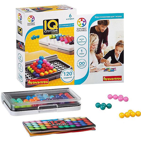 Игра-головоломка Спутник гения BondibonГоловоломки - игры<br>Характеристики:<br><br>• возраст: от 6 лет;<br>• материал: пластик;<br>• количество игроков: 1;<br>• в наборе: игровое поле-чемоданчик, цветные элементы, инструкция с 120 заданиями;<br>• вес: 233 гр.;<br>• размер упаковки: 2,8х9,7х14,4 см.<br><br>«Спутник гения» от Bondibon — игра серии IQ. После прохождения всех заданий из руководства повышается уровень интеллектуальных способностей, развивается внимательность и логическое мышление.<br><br>Головоломка будет интересна и ребенку, и взрослому за счет увлекательных задач. Нужно собрать разные фигуры в двухмерном или трехмерном пространстве. Набор легко взять собой в дорогу взамен игровым приложениям на планшете или телефоне.<br><br>Игру-головоломку «Спутник гения» Bondibon можно купить в нашем интернет-магазине.<br>Ширина мм: 144; Глубина мм: 97; Высота мм: 28; Вес г: 233; Возраст от месяцев: 72; Возраст до месяцев: 2147483647; Пол: Унисекс; Возраст: Детский; SKU: 7419988;