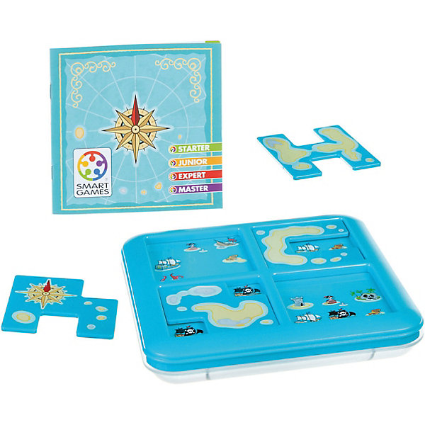 Игра-головоломка Пираты. Роза ветров BondibonГоловоломки - игры<br>Характеристики:<br><br>• возраст: от 6 лет;<br>• материал: пластик;<br>• количество игроков: 1;<br>• в наборе: игровое поле с отделом для хранения, 4 детали, инструкция с 60 заданиями;<br>• вес: 433 гр.;<br>• размер упаковки: 4,5х17х24 см.<br><br>«Пираты. Роза ветров» от Bondibon — увлекательная головоломка, в которой нужно поместить элементы на игровое поле в соответствии с заданием, а после найти нужные сокровища.<br><br>Условия различаются по уровню сложности. Тот, кто выполнит все 60 задач получит бесценный опыт для развития логического мышления и внимательности. Набор легко взять собой в дорогу взамен игровым приложениям на планшете или телефоне.<br><br>Игру-головоломку «Пираты. Роза ветров» Bondibon можно купить в нашем интернет-магазине.<br>Ширина мм: 45; Глубина мм: 240; Высота мм: 170; Вес г: 433; Возраст от месяцев: 72; Возраст до месяцев: 2147483647; Пол: Унисекс; Возраст: Детский; SKU: 7419994;