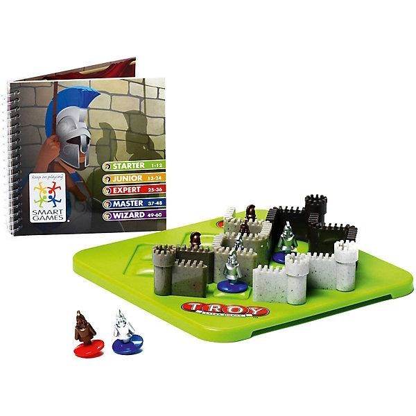 Игра-головоломка Троя BondibonГоловоломки - игры<br>Характеристики:<br><br>• возраст: от 7 лет;<br>• материал: пластик;<br>• количество игроков: 1;<br>• в наборе: игровое поле, 8 фигурок, 4 элемента стены, инструкция с 60 заданиями и ответами;<br>• вес: 507 гр.;<br>• размер упаковки: 5х24х24 см.<br><br>«Троя» от Bondibon — захватывающая головоломка по мотивам истории одноименной войны. В процессе предстоит выстроить защитные стены так, чтобы за их пределами оказались враги. Все фигурки объемные, вызывают интерес к игре.<br><br>Условия различаются по уровню сложности. Тот, кто выполнит все 60 задач получит бесценный опыт для развития логического мышления и внимательности. Набор легко взять собой в дорогу взамен игровым приложениям на планшете или телефоне.<br><br>Игру-головоломку «Троя» Bondibon можно купить в нашем интернет-магазине.<br>Ширина мм: 50; Глубина мм: 240; Высота мм: 240; Вес г: 507; Возраст от месяцев: 84; Возраст до месяцев: 2147483647; Пол: Унисекс; Возраст: Детский; SKU: 7419997;