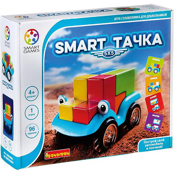 Игра-головоломка Smart тачка BondibonГоловоломки - игры<br>Характеристики:<br><br>• возраст: от 4 лет;<br>• материал: пластик, дерево;<br>• количество игроков: 1;<br>• в наборе: основа машинки, инструкция с 96 заданиями, 5 деревянных деталей;<br>• вес: 917 гр.;<br>• размер упаковки: 7,5х29х24 см.<br><br>«Smart тачка» от Bondibon — игрушка и головоломка одновременно. Следуя заданиям, ребенок должен разместить цветные элементы на машинке в самых разных вариантах. В итоге получается красочный автомобиль готовый к приключениям.<br><br>Игра развивает логическое мышление, пространственное воображение и внимательность.<br><br>Игру-головоломку «Smart тачка» Bondibon можно купить в нашем интернет-магазине.<br>Ширина мм: 75; Глубина мм: 240; Высота мм: 290; Вес г: 917; Возраст от месяцев: 48; Возраст до месяцев: 2147483647; Пол: Унисекс; Возраст: Детский; SKU: 7419999;