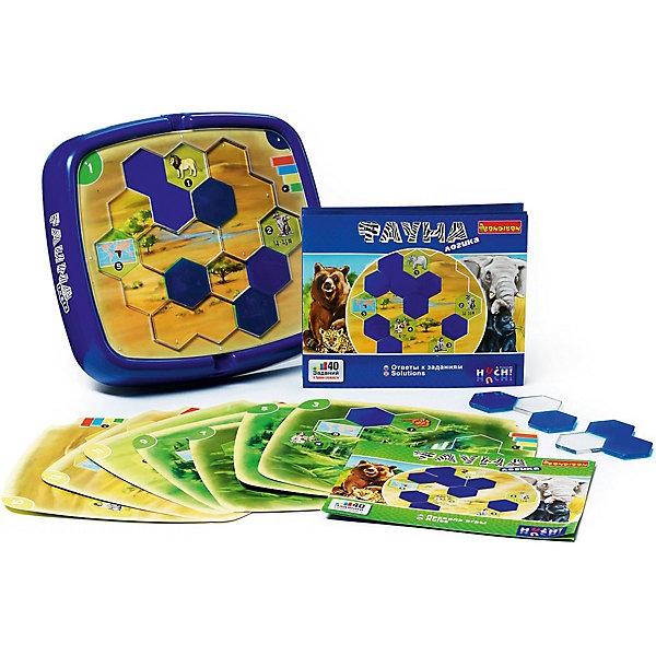 Игра-головоломка Фортуна BondibonГоловоломки - игры<br>Характеристики:<br><br>• возраст: от 6 лет;<br>• материал: пластик;<br>• количество игроков: 1;<br>• в комплекте: игровое поле, детали головоломки, карточки с 40 заданиями;<br>• вес: 750 гр.;<br>• размер упаковки: 5,5х24х24 см.<br><br>«Фауна» от Bondibon — игра, наполненная самыми разнообразными фактами о животных: где они живут, сколько весят, чем питаются и многими другими. Главной задачей ребенка будет создание правильного маршрута для зверей, следуя заданиям. Головоломка развивает логическое мышление, внимательность и кругозор.<br><br>Игру-головоломку «Фауна» Bondibon можно купить в нашем интернет-магазине.<br>Ширина мм: 240; Глубина мм: 55; Высота мм: 240; Вес г: 750; Возраст от месяцев: 72; Возраст до месяцев: 2147483647; Пол: Унисекс; Возраст: Детский; SKU: 7420008;