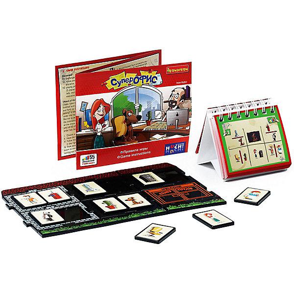 Игра-головоломка Супер офис BondibonГоловоломки - игры<br>Характеристики:<br><br>• возраст: от 7 лет;<br>• материал: пластик;<br>• количество игроков: 1;<br>• в комплекте: игровое поле, детали головоломки, карточки с 55 заданиями;<br>• вес: 543 гр.;<br>• размер упаковки: 5,5х24х24 см.<br><br>Такого хаоса в офисе еще не бывало! «Супер офис» от Bondibon — головоломка, в которой нужно расставить все по своим местам и разместить персонал правильно. Для этого есть специальные задания от простых до самых сложных. Игра займет все внимание семьи, а тот, кто выполнит все задачи получит бесценный подарок: улучшенное логическое мышление, богатое воображение и внимательность.<br><br>Игру-головоломку «Супер офис» Bondibon можно купить в нашем интернет-магазине.<br>Ширина мм: 240; Глубина мм: 55; Высота мм: 240; Вес г: 543; Возраст от месяцев: 84; Возраст до месяцев: 2147483647; Пол: Унисекс; Возраст: Детский; SKU: 7420009;