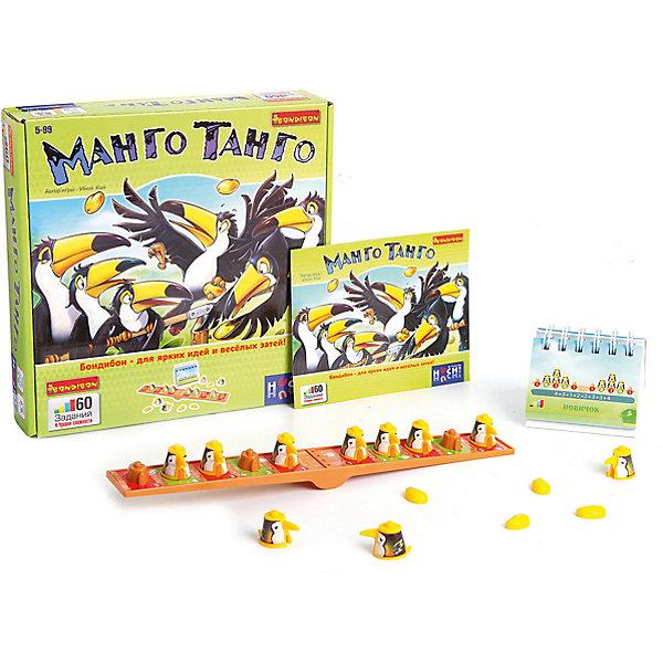 Игра-головоломка Манго Танго BondibonГоловоломки - игры<br>Характеристики:<br><br>• возраст: от 5 лет;<br>• материал: пластик;<br>• количество игроков: 1;<br>• 5 уровней сложности;<br>• в комплекте: игровое поле, фигурки, карточки с 60 заданиями;<br>• вес: 475 гр.;<br>• размер упаковки: 5,5х24х24 см.<br><br>«Манго Танго» от Bondibon познакомит малыша с основами математики, ведь перед ним будет стоять непростая задача — уместить всех птиц туканов на одной ветке, чтобы она не раскачивалась. Ребенку пригодятся вся ловкость и логика. Разнообразные задания разной сложности сделают игру еще интереснее.<br><br>Игру-головоломку «Манго Танго» Bondibon можно купить в нашем интернет-магазине.<br><br>Ширина мм: 55<br>Глубина мм: 240<br>Высота мм: 240<br>Вес г: 475<br>Возраст от месяцев: 60<br>Возраст до месяцев: 2147483647<br>Пол: Унисекс<br>Возраст: Детский<br>SKU: 7420010