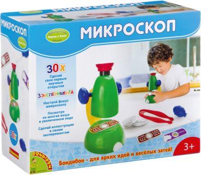 Французские опыты Науки с Буки Микроскоп30Х Bondibon