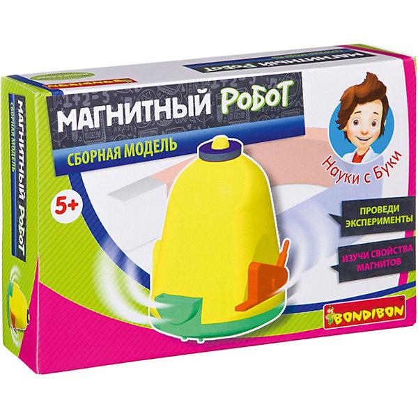 Французские опыты Науки с Буки Магнитный роботBondibonРобототехника и электроника<br>Характеристики:<br><br>• возраст: от 5 лет;<br>• материал: пластик, магнит;<br>• в коробке: элементы игрушки, инструкция;<br>• вес: 163 гр.;<br>• размер упаковки: 4,5х190х12,8 см.<br><br>Этот «Магнитный робот» от Bondibon в игровой форме познакомит ребенка с действием и свойствами магнитов. Почему они притягиваются или отталкиваются, какие предметы робот сможет приблизить к себе, а какие даже не сдвинутся с места? Ответ на эти вопросы заложен в игрушке.<br><br>Игра развивает логическое мышление, дает базовые знания физики и занимает внимание ребенка на долгое время.<br><br>Французские опыты Науки с Буки «Магнитный робот» Bondibon можно купить в нашем интернет-магазине.<br>Ширина мм: 45; Глубина мм: 190; Высота мм: 128; Вес г: 163; Возраст от месяцев: 72; Возраст до месяцев: 2147483647; Пол: Унисекс; Возраст: Детский; SKU: 7420068;