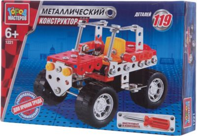Город мастеров Конструктор металлический Джип .