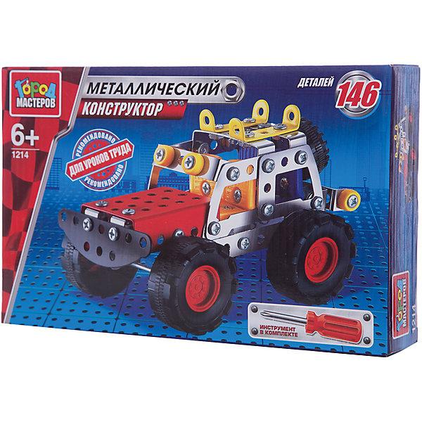 Конструктор металлический Джип.Металлические конструкторы<br>Металлический конструктор Джип состоит из 119 деталей. Из них мальчику предлагается собрать модель джипа, для удобства сборки в комплекте идёт отвёртка. Полученной игрушкой ребенок сможет играть, потому что у машинки подвижные колеса. Следуя приложенной схеме-инструкции, применив смекалку и терпение, ребенок увлекательно и полезно проведет время, развивая фантазию, глазомер и пространственное мышление. Предназначено для уроков труда и домашнего досуга. Рекомендовано детям старше 6-ти лет.<br>Ширина мм: 250; Глубина мм: 50; Высота мм: 170; Вес г: 280; Возраст от месяцев: 36; Возраст до месяцев: 84; Пол: Мужской; Возраст: Детский; SKU: 7420266;