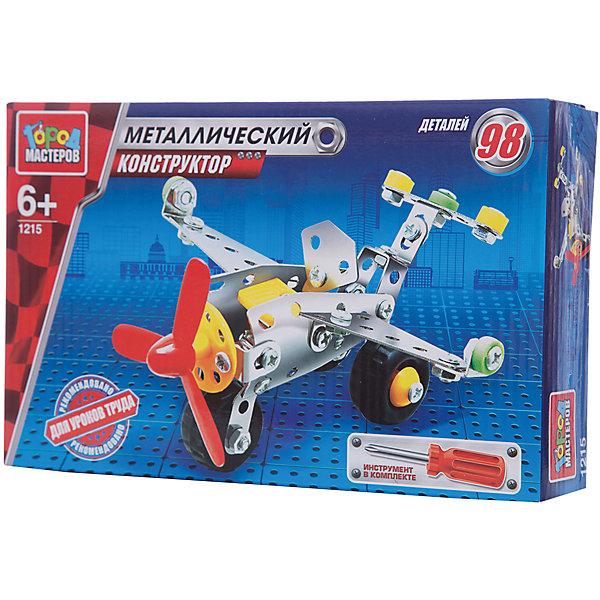 Конструктор металлический Самолет.Металлические конструкторы<br>Металлический конструктор Вертолёт состоит из 98 деталей. Из них мальчику предлагается собрать модель вертолёта, для удобства сборки в комплекте идёт отвёртка. Полученной игрушкой ребенок сможет играть, потому что у неё подвижные колеса. Следуя приложенной схеме-инструкции, применив смекалку и терпение, ребенок увлекательно и полезно проведет время, развивая фантазию, глазомер и пространственное мышление. Предназначено для уроков труда и домашнего досуга. Рекомендовано детям старше 6-ти лет.<br>Ширина мм: 250; Глубина мм: 50; Высота мм: 170; Вес г: 240; Возраст от месяцев: 36; Возраст до месяцев: 84; Пол: Мужской; Возраст: Детский; SKU: 7420274;