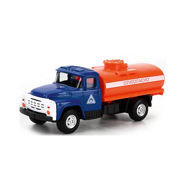 Машина  металлическая  инерционная  Зил-130.Бензовоз подвижные  элементы .Машинки<br>Металлическая модель ЗИЛ-130 представляет собой миниатюрную копию настоящего грузового автомобиля, выполненную в масштабе 1:52. Модель оснащена инерционным механизмом и подвижными элементами: задняя платформа поднимается и опускается. Модель выполнена в ярком оранжевом цвете. Придумывая увлекательные сюжеты для игры, дети стимулируют свою фантазию и воображение, тренируют мелкую моторику. Размер машины 7,5 см. Рекомендовано детям от 3-х лет.<br>Ширина мм: 180; Глубина мм: 70; Высота мм: 130; Вес г: 160; Возраст от месяцев: 36; Возраст до месяцев: 120; Пол: Мужской; Возраст: Детский; SKU: 7420287;
