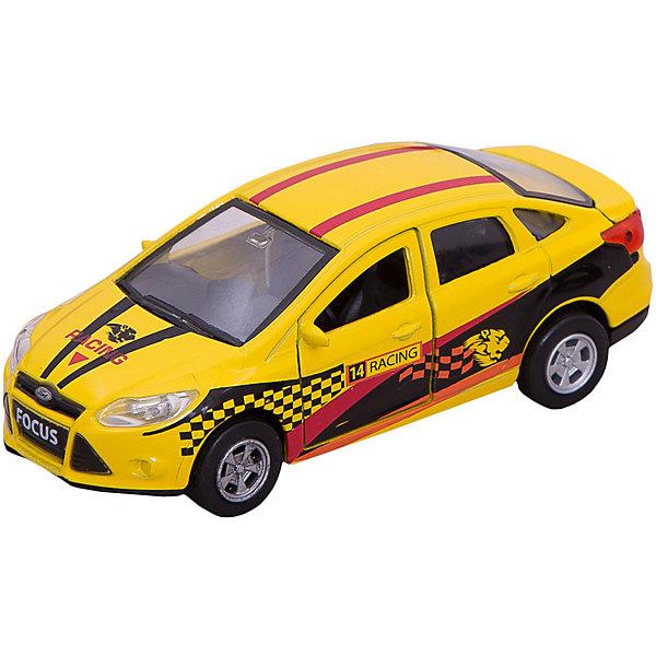 Машина  металлическая  инерционная  Ford focus спорт  12см, открываются  двери .Машинки<br>FORD FOCUS СПОРТ - это реалистично выполненная модель спортивного автомобиля, обаладющего встроенным инерционным механизмом. Автомобиль выполнен в ярком желтом цвете и дополнен оригинальным дизайном в спортивном стиле. У модели открываются двери и багажник, что делает машину максимально похожей на настоящую. Благодаря этому, всегда можно будет заглянуть машинке внутрь, чтобы убедиться - каждая ее деталь проработана «на отлично». Развивает фантазию и мелкую моторику. Размер машинки 12 см. Сделана из прочного высококачественного металла. Рекомендовано детям старше 3-х лет.<br>Ширина мм: 180; Глубина мм: 60; Высота мм: 130; Вес г: 200; Возраст от месяцев: 36; Возраст до месяцев: 120; Пол: Мужской; Возраст: Детский; SKU: 7420291;