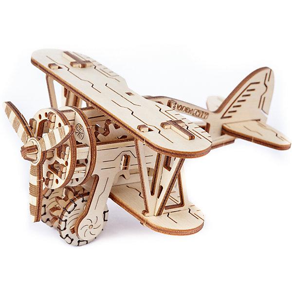 Сборная модель Биплан Wooden CityДеревянные модели<br>Характеристики товара:<br><br>• количество деталей: 63;<br>• возраст: от 14 лет;<br>• размер модели: 16,1х14х8,8 см;<br>• длина пути: 0,5 метра;<br>• время сборки: 100 минут;<br>• материал: фанера;<br>• размер упаковки: 24х17,5х3 см;<br>• страна бренда: Польша.<br><br>Сборная модель «Биплан» станет прекрасным дополнением к коллекции сборных игрушек. Модель состоит из 63 деталей, выполненных из березовой фанеры. Для сборки не требуются клей и инструменты, достаточно выдавить детали из основы и начать работу. Готовая модель приводится в движение после прокрутки пропеллера или колес и фиксации спускового рычага. Чтобы начать движение, необходимо потянуть штурвал на себя. Процесс сборки достаточно прост, поэтому модель идеально подойдет для новичков.  Ориентировочное время сборки модели - 100 минут.<br><br>Сборную модель «Биплан» Wooden City (Вуден Сити) можно купить в нашем интернет-магазине.<br><br>Ширина мм: 240<br>Глубина мм: 175<br>Высота мм: 28<br>Вес г: 310<br>Возраст от месяцев: 168<br>Возраст до месяцев: 2147483647<br>Пол: Унисекс<br>Возраст: Детский<br>SKU: 7421679