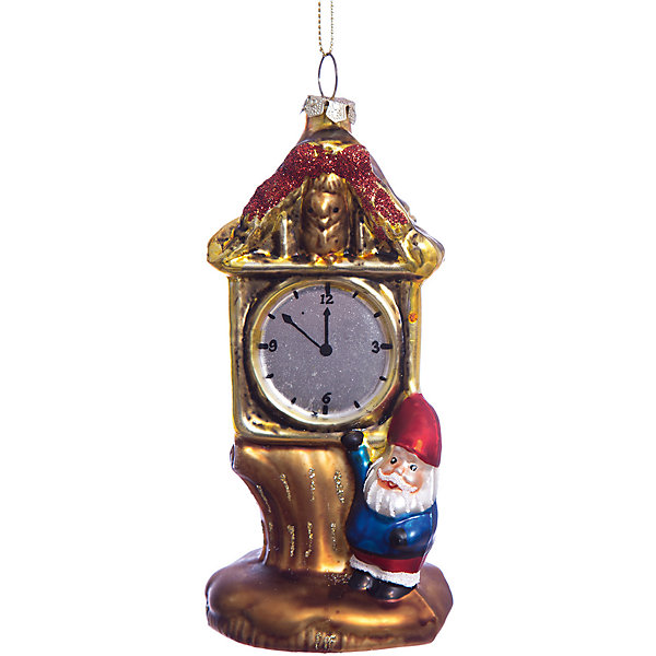 Елочное украшение часы леса Magic StoryЁлочные игрушки<br>Характеристики:<br><br>• в наборе: 1 шт.;<br>• материал: стекло;<br>• вес упаковки: 106 гр.;<br>• размер упаковки: 12,5х8х18 см.<br><br>Красочное украшение «Часы леса» Magic Story традиционно выполнено из стекла. Поверхность покрыта насыщенными яркими красками, которые не выцветают со временем. Каждая часть декора тщательно проработана и детализирована. Подвесить игрушку можно с помощью специальной петельки.<br><br>Елочное украшение «Часы леса» Magic Story можно купить в нашем интернет-магазине.<br><br>Ширина мм: 125<br>Глубина мм: 80<br>Высота мм: 180<br>Вес г: 106<br>Возраст от месяцев: 36<br>Возраст до месяцев: 2147483647<br>Пол: Унисекс<br>Возраст: Детский<br>SKU: 7422409