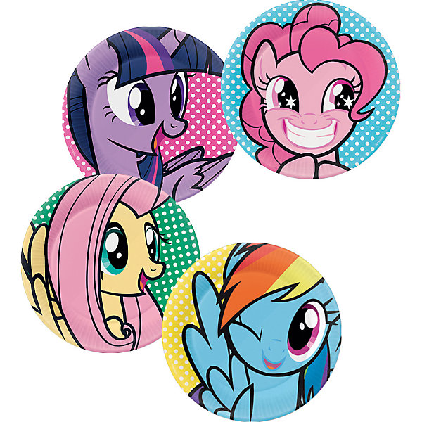 Набор тарелок для праздника My Little Pony Вечеринка Пинки Пай 4шт.Тарелки<br>Характеристики товара:<br><br>• возраст: от 3 лет;<br>• упаковка: пакет с хедером;<br>• размер упаковки: 30х25 см.;<br>• количество тарелок: 4 шт.;<br>• цвет: мультиколор;<br>• материал: пластик;<br>• бренд, страна-обладатель бренда: Daisy Design, Россия;<br>• страна-производитель: Китай.<br><br>Набор тарелок для праздника «My Little Pony. Вечеринка Пинки Пай» станет отличным решением для небольшого праздничного мероприятия. <br><br>В набор входят 4 тарелки, на каждой из которых содержится изображение одной из героинь любимого детского мультфильма My Little Pony. <br><br>Тарелки изготовлены из прочного пластика, изображения на них выполнены яркими и сочными красками. Тарелки сделаны из качественных материалов, не токсичны, противоаллергенны и безопасны для здоровья.<br><br>Набор тарелок для праздника «My Little Pony. Вечеринка Пинки Пай», 30х25 см., 4 шт., Daisy Design  можно купить в нашем интернет-магазине.<br><br>Ширина мм: 250<br>Глубина мм: 126<br>Высота мм: 300<br>Вес г: 90<br>Возраст от месяцев: 36<br>Возраст до месяцев: 2147483647<br>Пол: Унисекс<br>Возраст: Детский<br>SKU: 7423324
