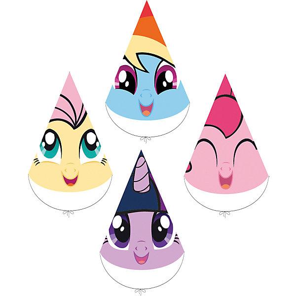 Набор колпачков для праздника My Little Pony Любимый пони 4шт.Детские шляпы и колпаки<br>Характеристики товара:<br><br>• возраст: от 3 лет;<br>• упаковка: пакет с хедером;<br>• размер упаковки: 30х17 см.;<br>• количество: 4 шт.;<br>• цвет: мультиколор;<br>• материал: картон;<br>• бренд, страна-обладатель бренда: Daisy Design, Россия;<br>• страна-производитель: Китай.<br><br>Набор колпачков для праздника «My Little Pony. Любимый пони» придадут элемент сказочности любому детскому мероприятию, вечеринке или дню рождения. <br><br>Колпачки выполнены с изображениями пегасов - героев знаменитого мультсериала My Little Pony: Твайлайт Спаркл, Рэрити, Радуга Дэш и Пинки Пай - для дружной вечеринки ребенок сможет выбрать того героя, кто больше по душе. <br><br>Набор колпачков для праздника «My Little Pony. Любимый пони» , 4 шт., Daisy Design  можно купить в нашем интернет-магазине.<br><br>Ширина мм: 170<br>Глубина мм: 67<br>Высота мм: 300<br>Вес г: 50<br>Возраст от месяцев: 36<br>Возраст до месяцев: 2147483647<br>Пол: Унисекс<br>Возраст: Детский<br>SKU: 7423325