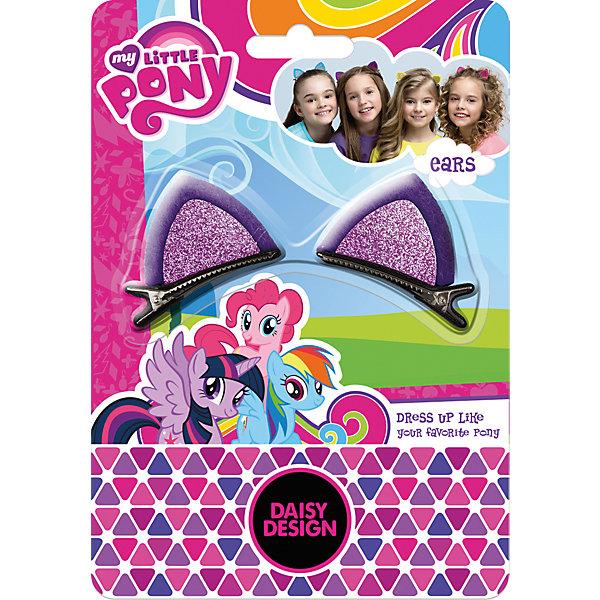 Набор заколок My Little Pony Ушки ПониДетские шляпы и колпаки<br>Характеристики товара:<br><br>• возраст: от 3 лет;<br>• упаковка: блистер на картоне;<br>• размер упаковки: 13х10х6 см.;<br>• комплект: 2 заколки;<br>• цвет: в ассортименте;<br>• материал: пластик;<br>• бренд, страна-обладатель бренда: Daisy Design, Россия;<br>• страна-производитель: Китай.<br><br>Набор заколок «My Little Pony. Ушки Пони» от компании Daisy Design -амечательный набор из двух заколок создан специально для самых маленьких модниц. <br><br>Аксессуар из серии My Little Pony изготовлен из пластика и окрашен в привлекательный цвет, который сможет привлечь любую девочку. Заколки представляют собой забавные ушки, с помощью которых юная модница сможет дополнить свой яркий образ.<br><br>Набор представлен в ассортименте. Доступные виды: розовый / желтый / фиолетовый. Вид желаемого набора указывайте в комментарии к заказу.<br><br>Набор заколок «My Little Pony. Ушки Пони», 2 заколки, цвет в ассортименте, Daisy Design  можно купить в нашем интернет-магазине.<br>Ширина мм: 125; Глубина мм: 64; Высота мм: 10; Вес г: 30; Возраст от месяцев: 36; Возраст до месяцев: 2147483647; Пол: Женский; Возраст: Детский; SKU: 7423333;