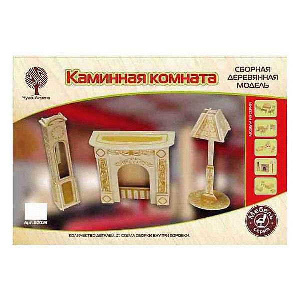 Модель сборная Мебель для кукол КАМИННАЯ КОМНАТА Чудо-ДеревоДеревянные модели<br>Характеристики товара:  <br><br>• возраст: от 5 лет;<br>• материал: дерево;<br>• в комплекте: 21 деталь для сборки, инструкция;<br>• размер упаковки: 37х24х1 см;<br>• вес упаковки: 400 гр.;<br>• страна производитель: Китай.<br><br>Модель сборная «Каминная комната» Чудо-Дерево позволит собрать настоящий набор мебели для кукол. Перед началом сборки все детали нужно выдавить из фанерного листа. Все они соединяются между собой без клея, но для надежности их можно склеить клеем ПВА. Готовые предметы можно раскрасить по желанию. Все детали выполнены из натуральной качественной древесины.<br><br>Модель сборную «Каминная комната» Чудо-Дерево можно приобрести в нашем интернет-магазине.<br>Ширина мм: 370; Глубина мм: 240; Высота мм: 10; Вес г: 400; Возраст от месяцев: 60; Возраст до месяцев: 156; Пол: Женский; Возраст: Детский; SKU: 7424858;