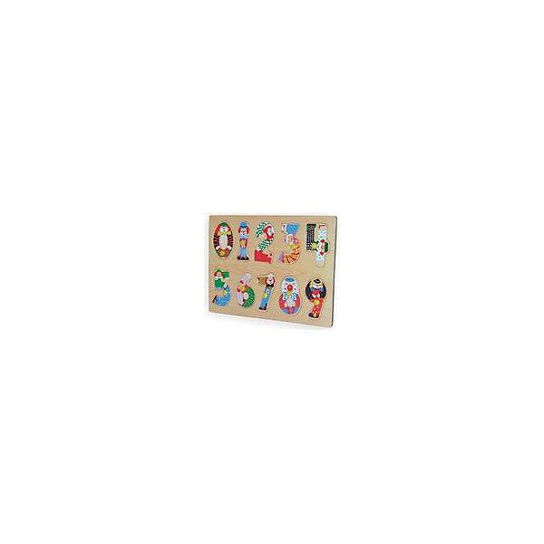 Рамка-пазл Цифры Чудо-ДеревоРамки-вкладыши<br>Характеристики товара:<br><br>• возраст: от 3 лет;<br>• материал: дерево;<br>• в комплекте: рамка, вкладыши;<br>• размер упаковки: 29х12,8х7 см;<br>• вес упаковки: 80 гр.;<br>• страна производитель: Китай.<br><br>Рамка-пазл «Цифры» Чудо-дерево представляет собой рамку с вырезанными на ней отверстиями для вкладышей. Ребенок в процессе игры должен для каждого отверстия подобрать подходящий вкладыш. Игрушка поможет малышу выучить цифры, способствует развитию логического мышления, мелкой моторики рук, зрительного восприятия. Выполнена из качественной натуральной древесины.<br><br>Рамку-пазл «Цифры» Чудо-дерево можно приобрести в нашем интернет-магазине.<br>Ширина мм: 290; Глубина мм: 215; Высота мм: 10; Вес г: 300; Возраст от месяцев: 36; Возраст до месяцев: 60; Пол: Унисекс; Возраст: Детский; SKU: 7424892;
