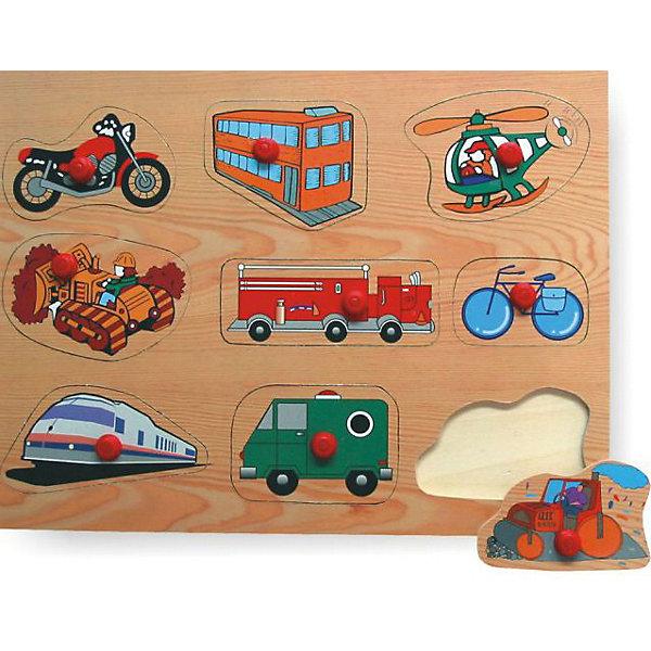 Рамка-вкладыш Транспорт 2 Чудо-ДеревоРамки-вкладыши<br>Характеристики товара:<br><br>• возраст: от 3 лет;<br>• материал: дерево;<br>• в комплекте: рамка, вкладыши;<br>• размер упаковки: 29,5х21,5х1 см;<br>• вес упаковки: 300 гр.;<br>• страна производитель: Китай.<br><br>Рамка-вкладыш «Транспорт 2» Чудо-дерево представляет собой рамку с вырезанными на ней отверстиями для вкладышей. Ребенок в процессе игры должен для каждого отверстия подобрать подходящий вкладыш. Игрушка способствует развитию логического мышления, мелкой моторики рук, зрительного восприятия. Выполнена из качественной натуральной древесины.<br><br>Рамку-вкладыш «Транспорт 2» Чудо-дерево можно приобрести в нашем интернет-магазине.<br>Ширина мм: 295; Глубина мм: 10; Высота мм: 215; Вес г: 300; Возраст от месяцев: 36; Возраст до месяцев: 60; Пол: Унисекс; Возраст: Детский; SKU: 7424896;