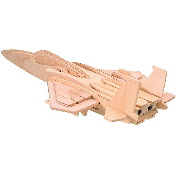 Модель сборная Самолет F16 Чудо-ДеревоДеревянные модели<br>Характеристики товара:  <br><br>• возраст: от 5 лет;<br>• материал: дерево;<br>• в комплекте: 27 деталей для сборки, инструкция;<br>• размер готовой модели: 23,5х23,5х20,2 см;<br>• размер упаковки: 23х18,5х1 см;<br>• вес упаковки: 213 гр.;<br>• страна производитель: Китай.<br><br>Модель сборная «Самолет F16» Чудо-Дерево позволит собрать модель истребителя. Перед началом сборки все детали нужно выдавить из фанерного листа. Все они соединяются между собой без клея, но для надежности их можно склеить клеем ПВА. Готовую модель можно раскрасить по желанию. Все детали выполнены из натуральной качественной древесины.<br><br>Модель сборную «Самолет F16» Чудо-Дерево можно приобрести в нашем интернет-магазине.<br>Ширина мм: 230; Глубина мм: 185; Высота мм: 10; Вес г: 213; Возраст от месяцев: 60; Возраст до месяцев: 180; Пол: Мужской; Возраст: Детский; SKU: 7424924;
