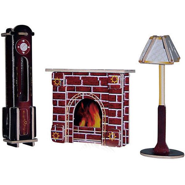Модель сборная Часы, лампа и камин Чудо-Дерево