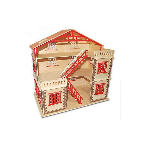 Модель сборная Кукольный домик Чудо-ДеревоДеревянные модели<br>Характеристики товара:  <br><br>• возраст: от 5 лет;<br>• материал: дерево;<br>• в комплекте: 88 деталей для сборки, инструкция;<br>• размер упаковки: 37х18,5х3 см;<br>• вес упаковки: 142 гр.;<br>• страна производитель: Китай.<br><br>Модель сборная «Кукольный домик» Чудо-Дерево позволит собрать домик для кукол. Перед началом сборки все детали нужно выдавить из фанерного листа. Все они соединяются между собой без клея, но для надежности их можно склеить клеем ПВА. Некоторые детали уже окрашены, остальные можно раскрасить по желанию. Все детали выполнены из натуральной качественной древесины.<br><br>Модель сборную «Кукольный домик» Чудо-Дерево можно приобрести в нашем интернет-магазине.<br>Ширина мм: 370; Глубина мм: 185; Высота мм: 30; Вес г: 1420; Возраст от месяцев: 60; Возраст до месяцев: 180; Пол: Женский; Возраст: Детский; SKU: 7424946;