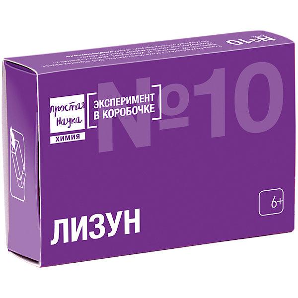 Набор для опытов Сделай Сам ЛизунХимия и физика<br>Характеристики товара:<br><br>• в комплекте: поливиниловый спирт, глицерин, тетраборат натрия, мерник, инструкция;<br>• возраст: от 6 лет;<br>• время эксперимента: 40 минут;<br>• размер упаковки: 9х6х2,5 см;<br>• страна бренда: Россия.<br><br>Набор от бренда Простая Наука увлечет ребенка простотой и интересным процессом проведения эксперимента. В результате получится игрушка «Лизун», сохраняющая свои свойства в течение нескольких дней. Игрушку приятно держать в руках, она достаточно вязкая, но не липкая. Все ингредиенты рассчитаны на 2 эксперимента и упакованы в пакеты в количестве, достаточном для каждого эксперимента.<br><br>Набор для опытов «Сделай Сам Лизун», Простая наука можно купить в нашем интернет-магазине.<br>Ширина мм: 25; Глубина мм: 90; Высота мм: 60; Вес г: 70; Возраст от месяцев: 72; Возраст до месяцев: 2147483647; Пол: Унисекс; Возраст: Детский; SKU: 7426906;