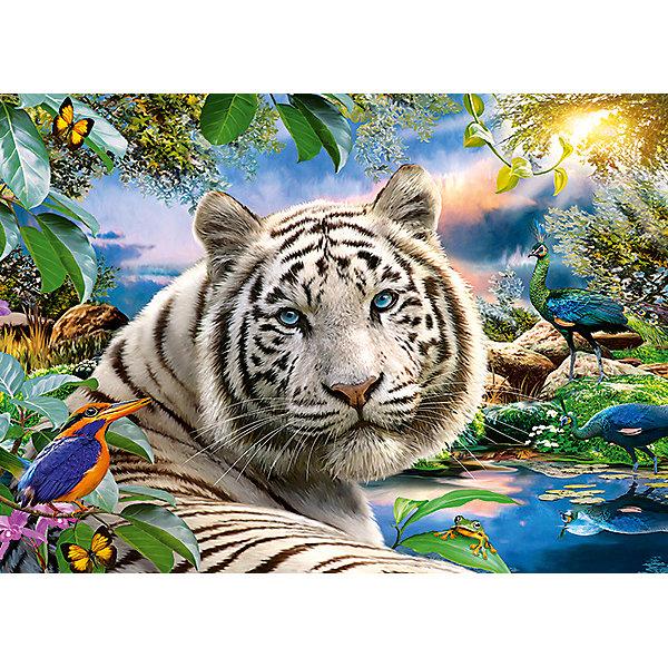 Пазл Белый тигр, 180 деталей, CastorlandПазлы классические<br>Изображение Белый тигр. Кол-во деталей 180.<br>Ширина мм: 245; Глубина мм: 175; Высота мм: 37; Вес г: 300; Возраст от месяцев: 84; Возраст до месяцев: 2147483647; Пол: Унисекс; Возраст: Детский; SKU: 7427355;