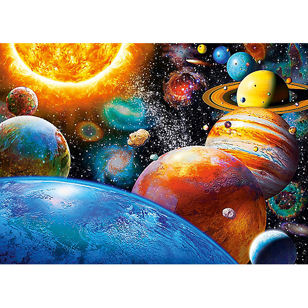 Пазл Планеты, 180 деталей, CastorlandПазлы классические<br>Изображение Планеты. Кол-во деталей 180.<br>Ширина мм: 245; Глубина мм: 175; Высота мм: 37; Вес г: 300; Возраст от месяцев: 84; Возраст до месяцев: 2147483647; Пол: Унисекс; Возраст: Детский; SKU: 7427364;