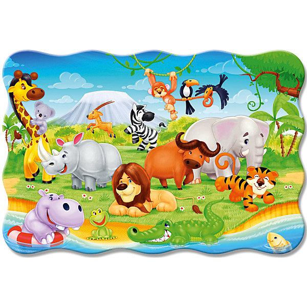 Пазл Животные Африки, 20 деталей MAXI CastorlandПазлы для малышей<br>Изображение: Животные Африки. Кол-во деталей 20.<br>Ширина мм: 320; Глубина мм: 220; Высота мм: 47; Вес г: 400; Возраст от месяцев: 36; Возраст до месяцев: 2147483647; Пол: Унисекс; Возраст: Детский; SKU: 7427370;