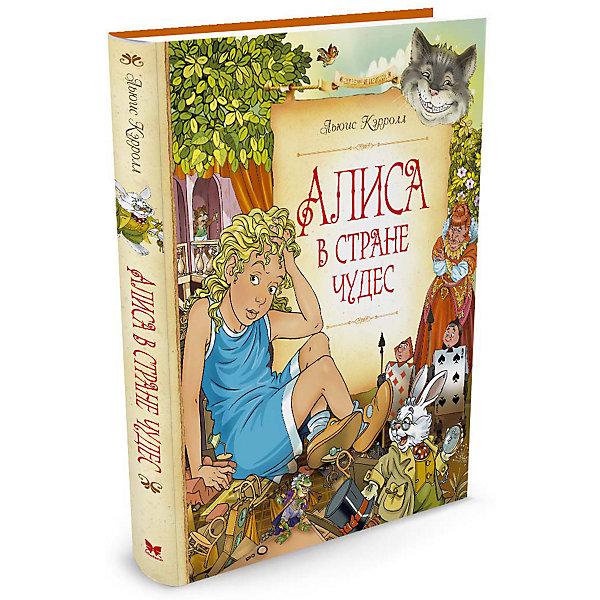 Алиса в Стране чудесСказки<br>Характеристики:<br><br>• ISBN:978-5-389-11592-7 ;<br>• тип игрушки: книга;<br>• возраст: от 11 лет;<br>• вес: 606 гр;<br>• автор: Кэрролл Льюис;<br>• художник: Ингпен Роберт;<br>• количество страниц: 192 (офсет);<br>• размер: 24,5х20х1,9 см;<br>• материал: бумага;<br>• издательство: Махаон.<br><br>Книга Махаон «Алиса в Стране чудес» - новое уникальное издание, главными достоинствами которого являются полный, несокращённый текст и более 70 прекрасных иллюстраций именитого художника.<br><br>Прошло почти полтора века со времени первой публикации этой знаменитой книги, а она до сих пор завоёвывает сердца детей и взрослых всех стран. История этой английской девочки покорила весь мир.  Это бестселлер всех времен и народов. Маленькая девочка по имени Алиса попадает в кроличью нору, она находит дверь, которая открывает ей волшебный мир.<br><br>Книгу «Алиса в Стране чудес» от издательства Махаон можно купить в нашем интернет-магазине.<br>Ширина мм: 242; Глубина мм: 201; Высота мм: 15; Вес г: 490; Возраст от месяцев: 132; Возраст до месяцев: 168; Пол: Унисекс; Возраст: Детский; SKU: 7427593;