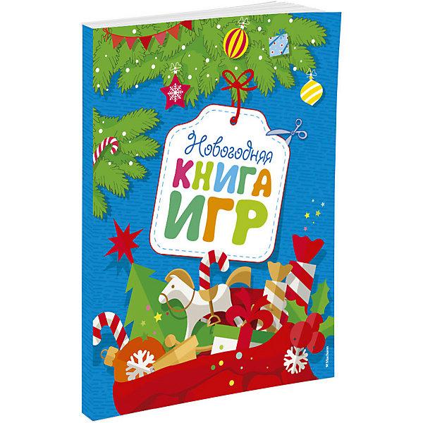 Новогодняя книга игрВикторины и ребусы<br>Характеристики:<br><br>• ISBN:978-5-389-11897-3 ;<br>• тип игрушки: книга;<br>• возраст: от 3 лет;<br>• вес: 128 гр;<br>• художник: Шульга Сергей;<br>• количество страниц: 44 (офсет);<br>• размер: 25,5х19х0,4 см;<br>• материал: бумага;<br>• издательство: Махаон.<br><br>Книга Махаон «Новогодняя книга игр»  подходит для детей дошкольного возраста. Какие развлечения ты можешь придумать, чтобы весело провести время морозным зимним вечером? Почитать книжку, посмотреть мультик, пригласить друга в гости, поиграть в компьютерную игру… и всё? <br><br>Тогда эта книжка - для тебя. Здесь столько разных интересностей - и для тебя, и для твоих друзей! Игры на смекалку и логику, счёт и внимание, картинки-раскраски, новогодние поделки-сюрпризы, поделки-украшения, стихи и загадки.<br><br>Книгу «Новогодняя книга игр» от издательства Махаон можно купить в нашем интернет-магазине.<br>Ширина мм: 255; Глубина мм: 195; Высота мм: 4; Вес г: 128; Возраст от месяцев: 36; Возраст до месяцев: 72; Пол: Унисекс; Возраст: Детский; SKU: 7427609;