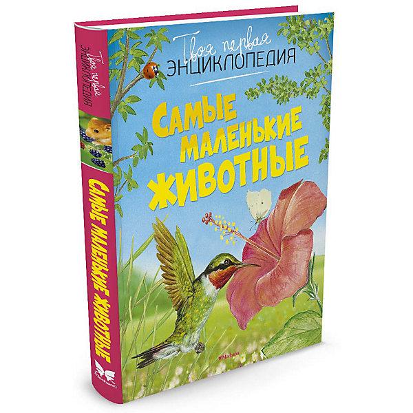 Самые маленькие животныеДетские энциклопедии<br>Характеристики:<br><br>• ISBN: 978-5-389-11305-3;<br>• тип игрушки: книга;<br>• возраст: от 11 лет;<br>• вес: 338 гр;<br>• автор: Бомон Эмили;<br>• художник: Лемайор Мари-Кристин, Алюни Бернар;<br>• количество страниц: 128 (офсет);<br>• размер: 23х29х1,1 см;<br>• материал: бумага;<br>• издательство: Махаон.<br><br>Книга «Самые маленькие животные» от издательства Махаон станет отличным  дополнением книжной коллекции для детей от 11 лет и старше. Эта энциклопедия познакомит юных читателей с самыми маленькими обитателями нашей планеты - зверьками, птицами, лягушками, насекомыми, улитками. В книге рассказывается более чем о 200 видах животных. Подходит для среднего школьного возраста.<br><br>Книгу «Самые маленькие животные» от издательства Махаон можно купить в нашем интернет-магазине.<br>Ширина мм: 226; Глубина мм: 186; Высота мм: 12; Вес г: 350; Возраст от месяцев: 132; Возраст до месяцев: 168; Пол: Унисекс; Возраст: Детский; SKU: 7427678;