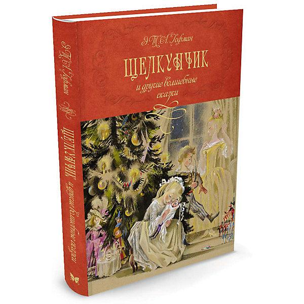 Щелкунчик и другие волшебные сказкиСказки<br>Характеристики:<br><br>• ISBN:978-5-389-11602-3 ;<br>• тип игрушки: книга;<br>• возраст: от 11 лет;<br>• вес: 1,135 кг;<br>• автор: Эрнст Теодор Амадей Гофман;<br>• художник: Ника Гольц;<br>• количество страниц: 240 (офсет);<br>• размер: 220х290x2 см;<br>• материал: бумага;<br>• издательство: Махаон.<br><br>Книга «Щелкунчик и другие волшебные сказки» от издательства Махаон из серии «Шедевры детской литературы» станет отличным дополнением в книжной коллекции детей от 11 лет.<br>Причудливое повествование сказок Гофмана, которые представлены в этом издании в прекрасном переложении для детей Леонида Яхнина, удивительно гармонично переплетаются с иллюстрациями Ники Гольц, заслуженной художницы России. За создание неповторимых образов в детской литературе она награждена дипломом Международной премии имени Х.К. Андерсена. Многие работы Ники Гольц находятся в музеях России и за рубежом, в том числе в Третьяковской галерее.<br>Книга напечатана на качественной бумаге. Иллюстрации очень яркие и красочные. А шрифт всегда разборчивый и четкий, чтобы и у маленьких, и у взрослых читателей не возникало проблем со зрением.<br>Книгу «Щелкунчик и другие волшебные сказки» от издательства Махаон можно купить в нашем интернет-магазине.<br>Ширина мм: 293; Глубина мм: 217; Высота мм: 20; Вес г: 1141; Возраст от месяцев: 132; Возраст до месяцев: 168; Пол: Унисекс; Возраст: Детский; SKU: 7427917;