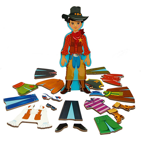 Деревянный конструктор на магнитах Модный гардеробчик (мальчик), Mr. BigzyОбучающие игры для дошкольников<br>Характеристики:<br><br>• возраст: от 3 лет;<br>• материал: дерево;<br>• в наборе: фигурка, элементы одежды на магнитах;<br>• вес: 350 гр.;<br>• размер упаковки: 23х8х2 см;<br>• страна производитель: Россия.<br><br>«Модный гардеробчик» Mr. Bigzy — современная альтернатива нарисованным куклам со сменной одеждой. Все детали набора сделаны из дерева, они прочные, красочные и долговечные.<br><br>Ребенок сможет без труда изменить образ мальчика, достаточно, например, поменять свитер на футболку, а сапожки на туфли. Сделать это легко с помощью магнитов на каждом элементе. Игра развивает воображение, логическое мышление и помогает изучать новые предметы гардероба.<br><br>Деревянный конструктор на магнитах «Модный гардеробчик» (мальчик), Mr. Bigzy можно купить в нашем интернет-магазине.<br><br>Ширина мм: 230<br>Глубина мм: 80<br>Высота мм: 20<br>Вес г: 350<br>Возраст от месяцев: 24<br>Возраст до месяцев: 2147483647<br>Пол: Мужской<br>Возраст: Детский<br>SKU: 7428418