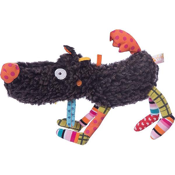 Мягкая игрушка Волчонок, 27 см EbuloboМягкие игрушки животные<br>Характеристики:<br><br>• возраст: от 6 месяцев;<br>• материал: полиэстер, хлопок;<br>• вес: 230 гр.;<br>• размер упаковки: 40,5х29х38 см;<br>• страна бренда: Франция.<br><br>«Волчонок» Ebulobo — яркая и красочная игрушка, которая в процессе игры поможет малышу научиться различать цвета и формы, определять предметы по тактильным ощущениям, распознавать звуки.<br><br>В голове волка есть колокольчик, в носу — пищалка, а хвост издает приятное шуршание, как только его трогаешь. Игрушка выполнена из качественных материалов, все швы надежно прошиты, поэтому она будет оставаться любимицей ребенка не один год.<br><br>Мягкую игрушку «Волчонок», 27 см Ebulobo можно купить в нашем интернет-магазине.<br>Ширина мм: 405; Глубина мм: 290; Высота мм: 380; Вес г: 230; Возраст от месяцев: 6; Возраст до месяцев: 36; Пол: Унисекс; Возраст: Детский; SKU: 7428421;